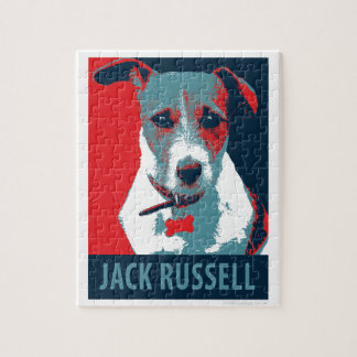 Jack Russel Terrier Political Hope Parody Jigsaw Puzzle