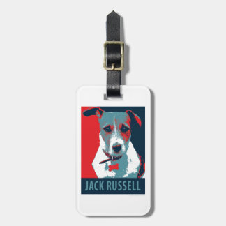 Jack Russel Terrier Political Hope Parody Luggage Tag