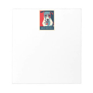 Jack Russel Terrier Political Hope Parody Note Pad