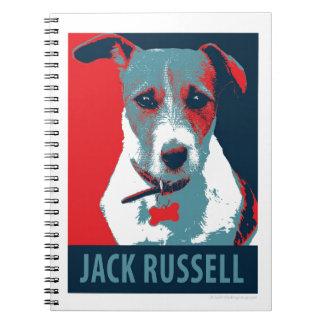 Jack Russel Terrier Political Hope Parody Notebook