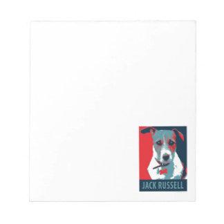 Jack Russel Terrier Political Hope Parody Notepad