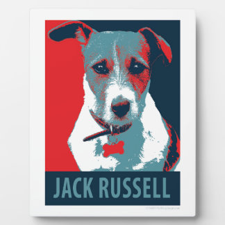 Jack Russel Terrier Political Hope Parody Photo Plaque