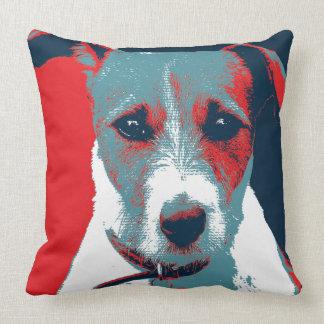 Jack Russel Terrier Political Hope Parody Throw Pillow