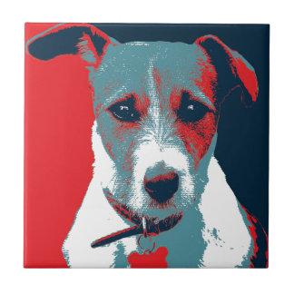 Jack Russel Terrier Political Hope Parody Ceramic Tile