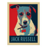 Jack Russel Terrier Political Parody Poster