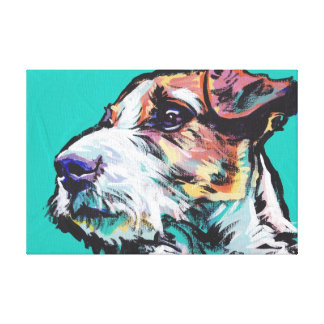 Jack Russel Terrier Pop Dog Art on Wrapped Canvas Canvas Print