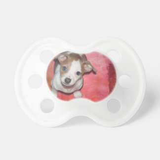 Jack Russel Terrier Puppy on Pink Pacifier