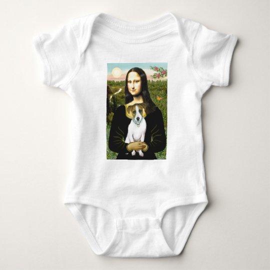 Jack Russell 10 - Mona Lisa Baby Bodysuit