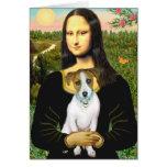 Jack Russell 10 - Mona Lisa Greeting Card