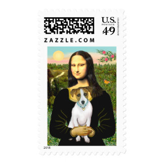 Jack Russell 10 - Mona Lisa Postage Stamps