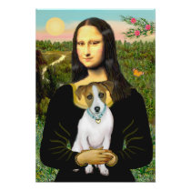 Jack Russell 10 - Mona Lisa Poster