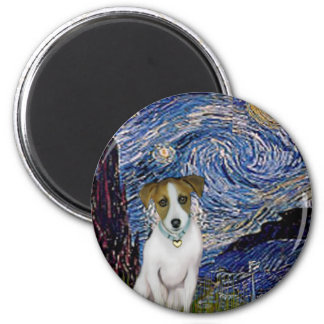Jack Russell 10 - Starry Night 2 Inch Round Magnet