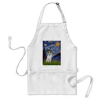 Jack Russell 10 - Starry Night Adult Apron