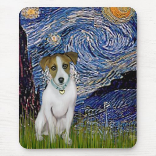 Jack Russell 10 - Starry Night Mouse Mat