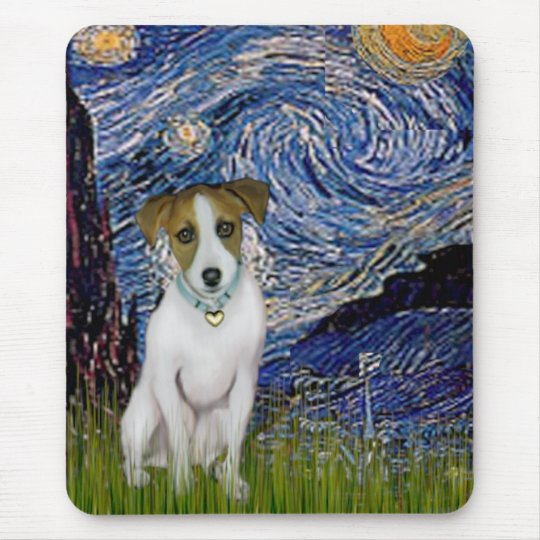 Jack Russell 10 - Starry Night Mouse Pad
