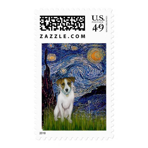 Jack Russell 10 - Starry Night Postage
