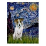 Jack Russell 10 - Starry Night Postcard