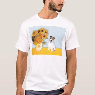 Jack Russell 11 - Sunflowers T-Shirt