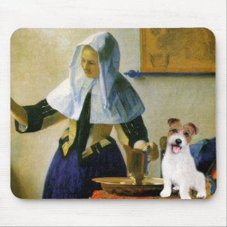 Jack Russell 11 - Woman with Pitcher Mouse Pad