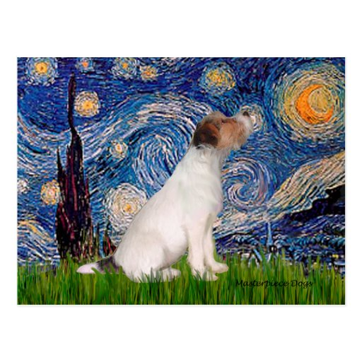 Jack Russell 5 - Starry Night Postcards