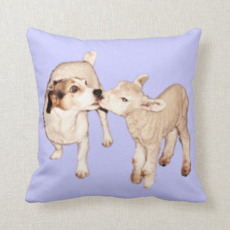 Jack Russell and Lamb Mojo Pillow