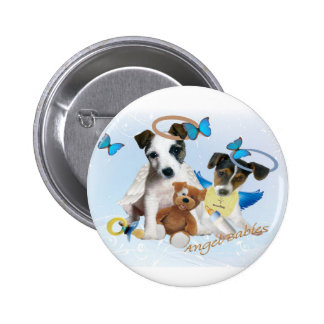 Jack Russell  Angel Babies Buttons