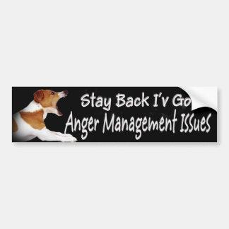 Jack Russell Anger Mgt Issues Bumper Sticker Car Bumper Sticker
