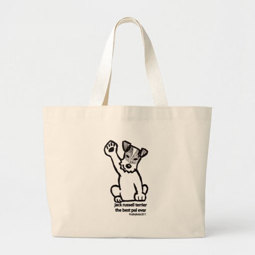 Jack Russell Best Pal Canvas Bags