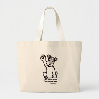 Jack Russell Best Pal Large Tote Bag