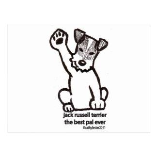 Jack Russell Best Pal Postcard