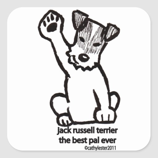 Jack Russell Best Pal Square Sticker