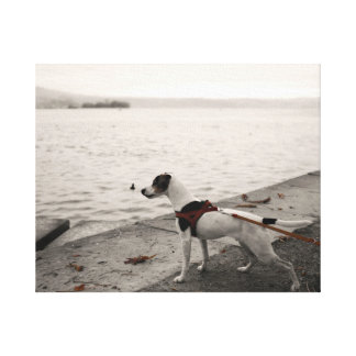 'Jack Russell by the lake' canvas