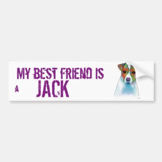 Jack Russell Car Bumper Sticker
