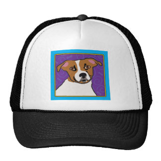 Jack Russell Cartoon Hats
