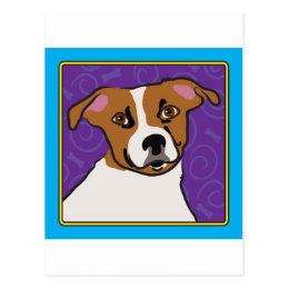 Jack Russell Cartoon Postcard