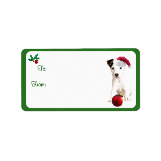 Jack Russell Christmas Gift Tag Stickers Personalized Address Labels