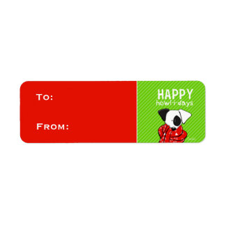 Jack Russell Christmas Gift Tags Red Green Return Address Labels