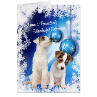Jack Russell Christmas Wishes - Customize It! #2 Card