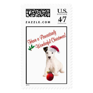 Jack Russell Christmas Wishes Postage Stamp