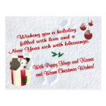 Jack Russell Christmas Wishes Postcard #2