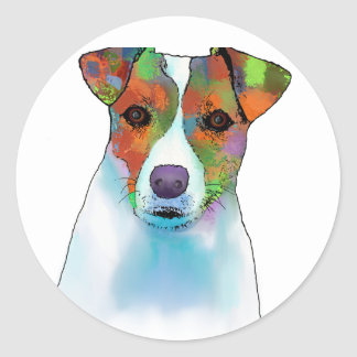 Jack Russell Classic Round Sticker