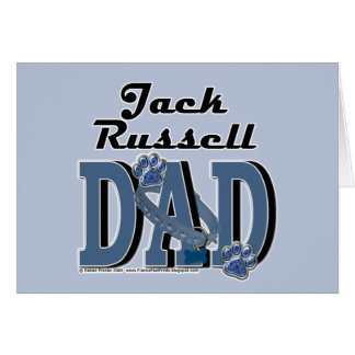 Jack Russell DAD Greeting Card