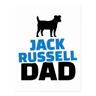 Jack Russell Dad Postcard