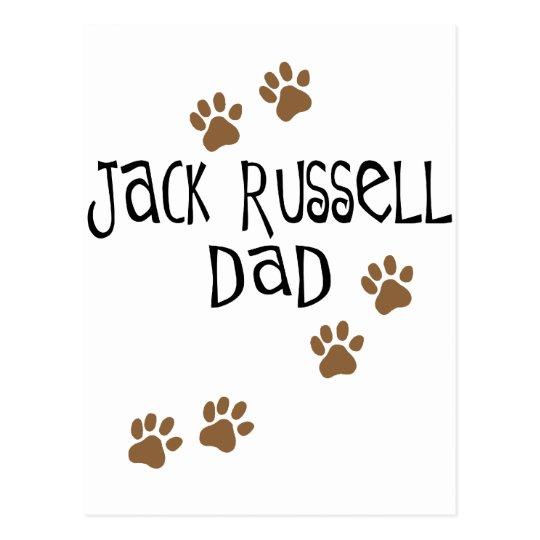 Jack Russell Dad Postcard
