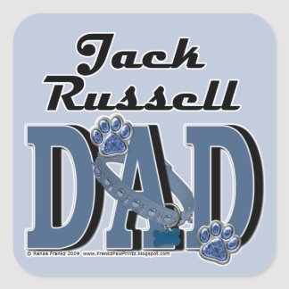 Jack Russell Dad Square Sticker