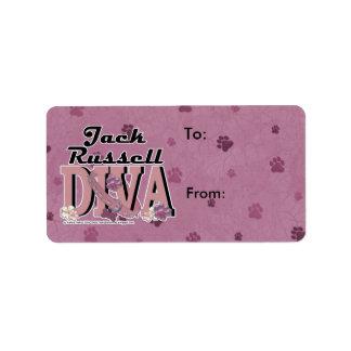Jack Russell DIVA Custom Address Labels