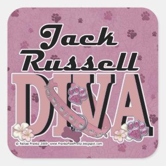 Jack Russell DIVA Square Sticker