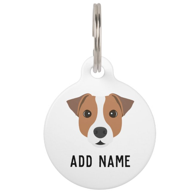 Jack Russell Dog Pet ID Tag