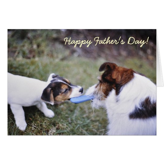 Jack Russell Father's day card