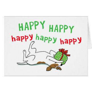 Jack Russell Happy Holiday Dog Christmas Card